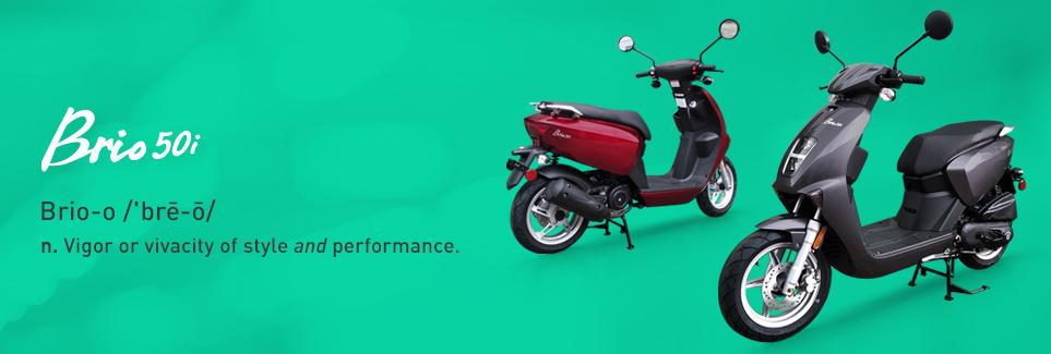 Pair of Genuine Brio 50cc scooters